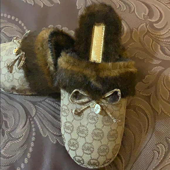 Michael Kors Shoes - Brand New Michael Kors Fur Slippers